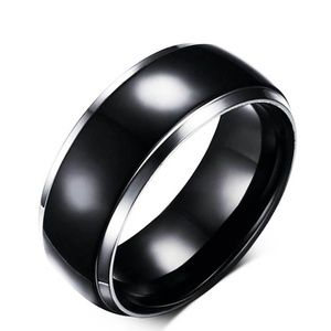 Jewelry - 8mm Titanium Ring Wedding Band Stainless Steel
